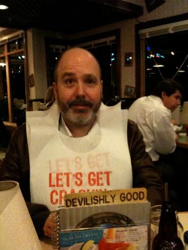 Dad at Joe's Crab Shack last year.