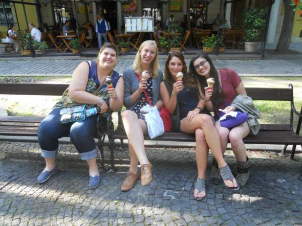 Ice cream was enjoyed many times during our weekend in Bratislava. Photo by Ian Cox.