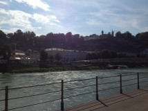 The Salzach river is so lovely!