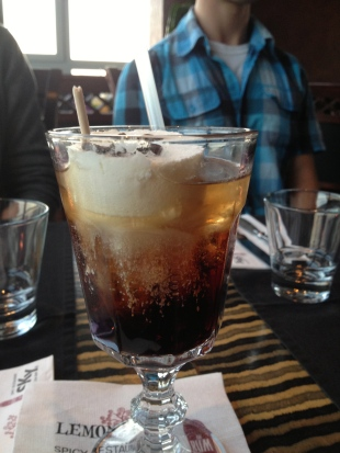 The frozen White Russian I had with dinner.