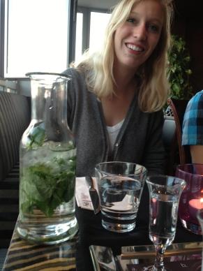 Andrea's fancy mint water.