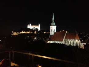 The view from the very top floor of the bar once it got dark.