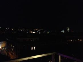Bratislava was beautiful at night.
