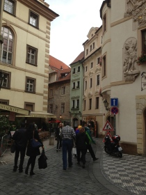 That green building was the home of the first public bathrooms in Prague!