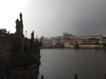 The Charles Bridge is decorated with all sorts of allegorical statues.