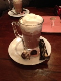 Hot chocolate! A go to for stormy days.