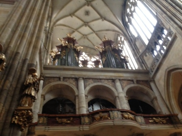 An unfortunately blurry photo of the organ!