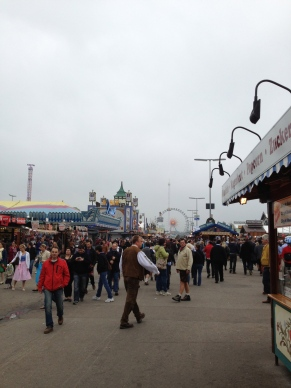 The carnival part of Oktoberfest.