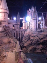 The final part: the detailed model of Hogwarts that they used for fly in shots and long distance shots. It was huge!!