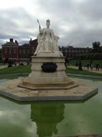Another memorial to Queen Victoria outside Kensington Palace.