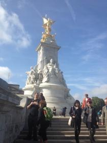 A memorial to Queen Victoria.