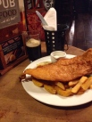 Fish. Chips. Mushy Peas. Guinness. Good day.