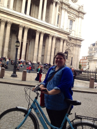 After 3 hours biking around London, a stop at St. Paul's Cathedral.