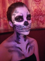 Adri the skeleton.