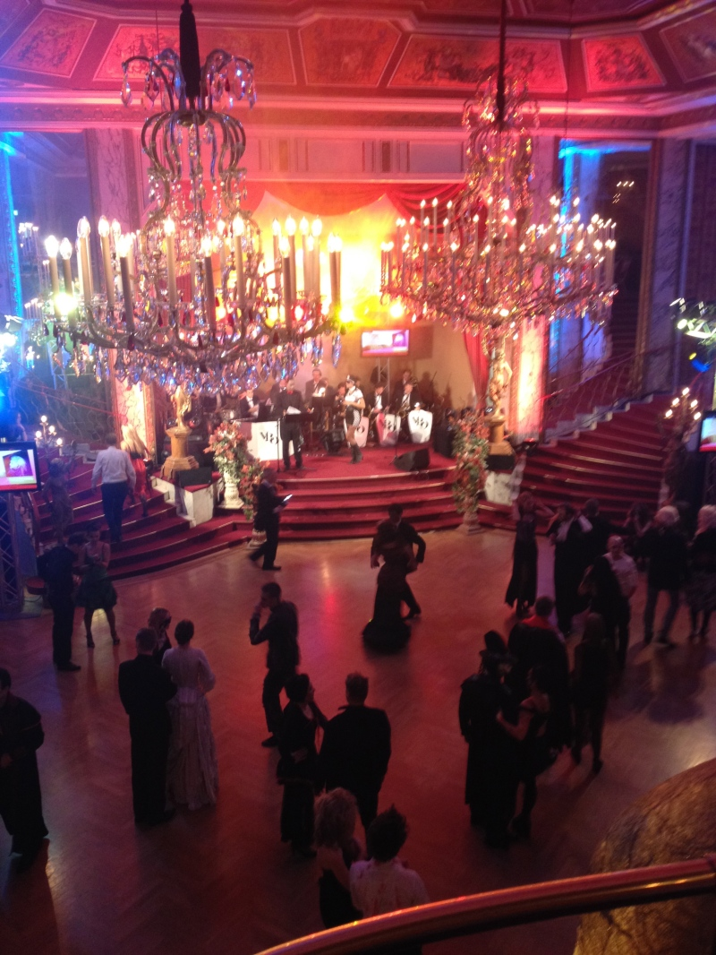 The dance floor/performance space.