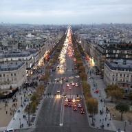 The Champs-Elysée.
