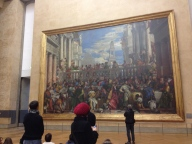 The Louvre was such a maze. Look at how huge this painting is!!