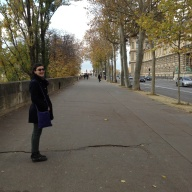 "Hannah rocking the ""I'm wandering the streets of Paris in autumn"" look."