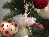 The tree finally got decorated, complete with the ballerinas I chose in fifth grade.