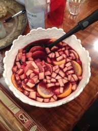 We made sangria for New Year's (we have the recipe if you want it!).