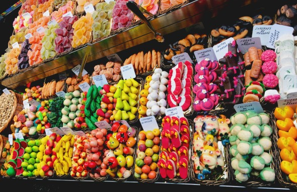 candy at the market